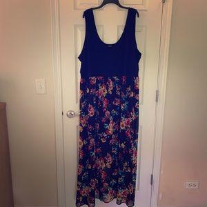 Torrid black and floral maxi dress